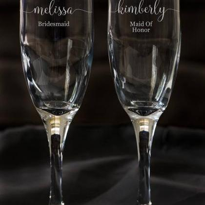 Set of 2 champagne flues,personaliz..