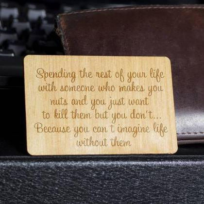 Wooden Wallet insert, Customized Wa..