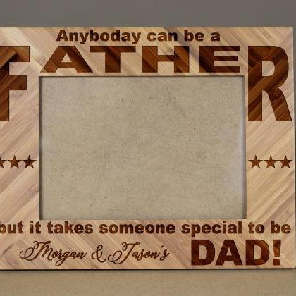 Father's Day frame, Wooden Engrave ..