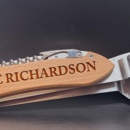 Last Name Engraved BBQ Set, Persona..