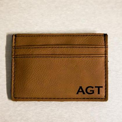 leather engraved Money clip, Person..