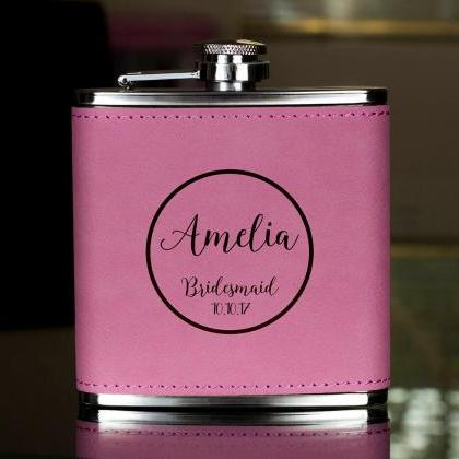 Personalized Flask, Bridesmaid Flas..