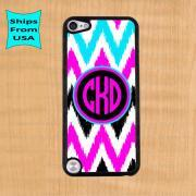 Chevron Pattern Monogram iPod Touch 5 Case, iPod Cover, Monogram iTouch 5 Cases, Cute iPod touch 5th generation Case