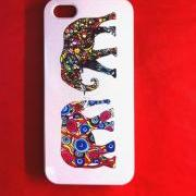 Iphone 5 Case, New iPhone 5 case Colorful Elephant Pair iphone 5 Cover, iPhone 5 Cases, Case for iPhone 5