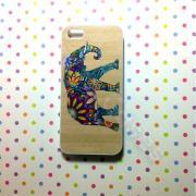 Iphone 5 Case, New iPhone 5 case Colorful Flower Elephant on Wood Texture iPhone 5 Cases, Iphone 5 Cover,Case for iPhone 5