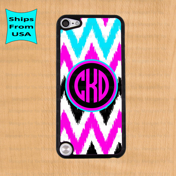 watch a952b 67312 Chevron Pattern Monogram IPod Touch 5 Case, IPod Cover, Monogram ITouch 5  Cases, Cute IPod Touch 5th Generation Case