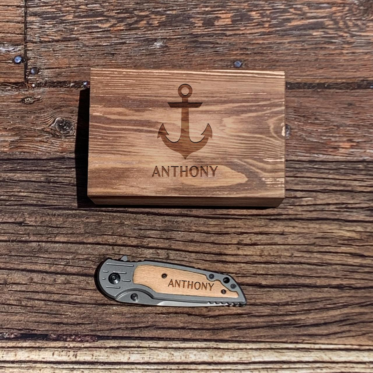 Personalize Knife with wood box, Engraved Knife, Groomsman Knife, Groomsman Gift, Wedding Favor, Hunting Knifes,Gift for Father,Gift for him