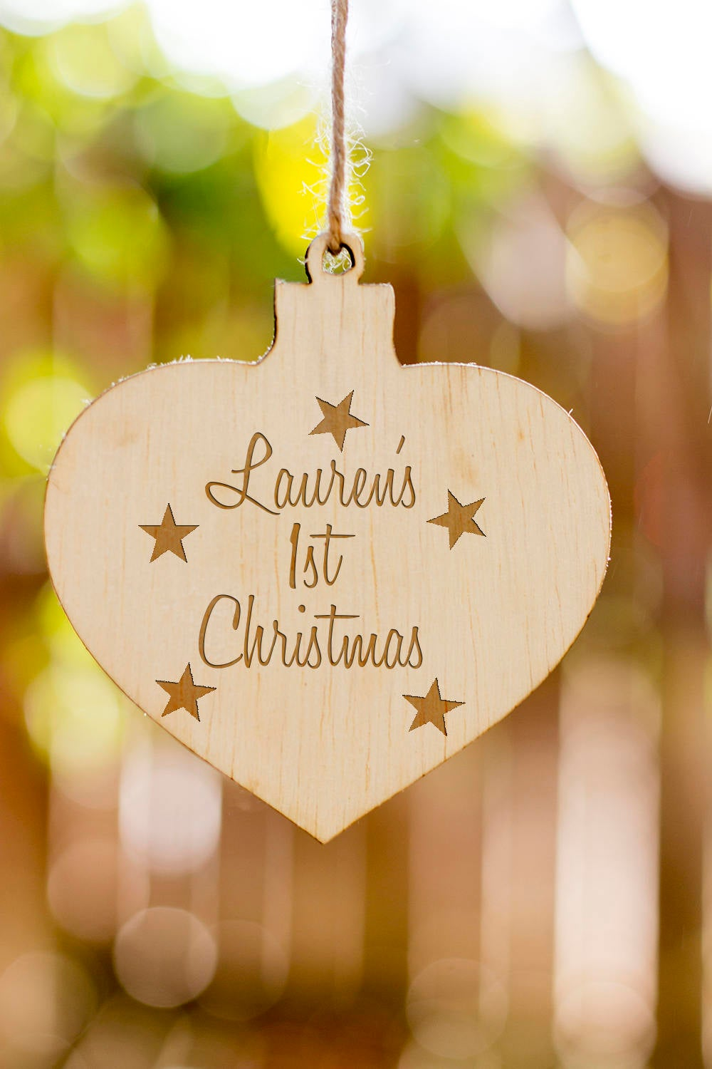 Personalized Christmas Ornament, Child's personalized Ornament, Wooden Christmas Ornament Gift, Engraved Wooden Christmas Ornament