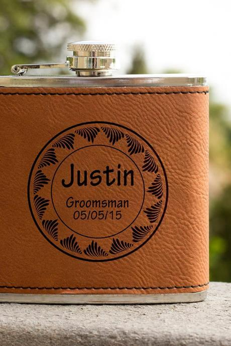 Personalized Flask, Wedding Flask, Best Man Flask, Gift for wedding, Gifts for him, birthday gift, best man gift, Hip Flask