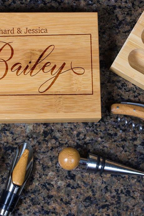 Engraved Wine opener set, Personalized Cork screw Set, Personalized Name Engraved Wine Opener set, Wine Party Favor, Christmas Gift
