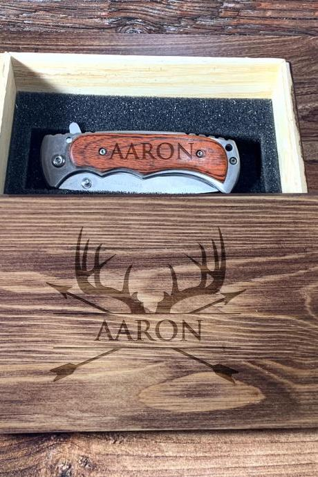 Deer Antler Groomsman Giftbox, Personalize Knife,Groomsman Knife,Groomsman gift,Wedding Favor, Hunting Knifes,Gift for Father,Camping knife