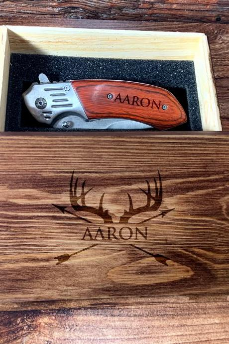 Deer Antler Groomsman Giftbox, Personalize Knife,Groomsman Knife,Groomsman gift,Wedding Favor, Hunting Knifes,Gift for Father,Gift for him
