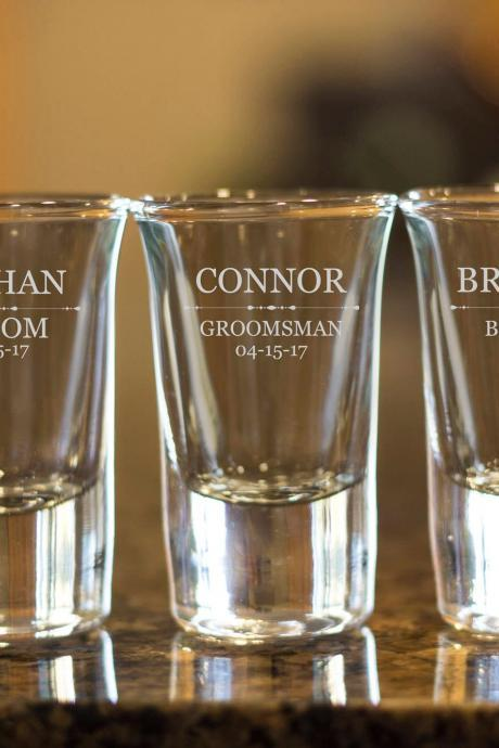 Maid of honor shot glasses,customize shot glasses,wedding shot glasses,1.5 oz shot glass,wedding favor,bachelor party shot glass,bridesmaid