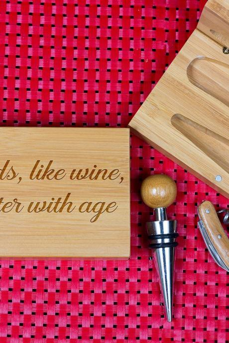Engraved Wine opener set, Personalized Cork screw Set, Friends Engraved Wine Opener set, Wine Party Favor, Christmas Gift