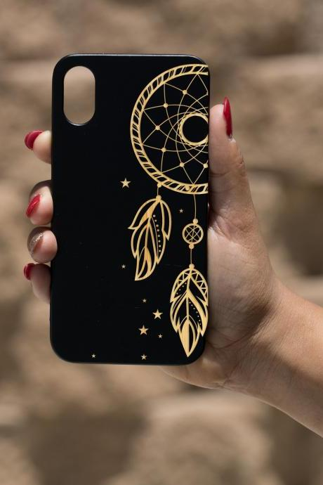 Dream catcher IPhone X Case, Engraved Iphone X case, Wooden Engraved Iphone X Case, Iphone case, Beautiful Gift for here,unique case,