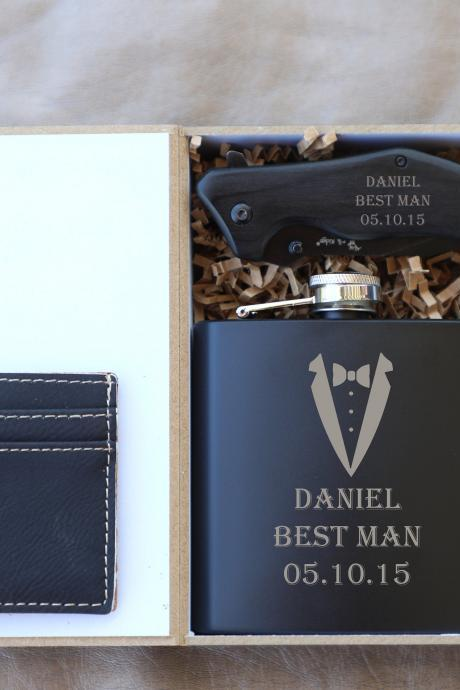 Best Man Gift set, Groomsman Gift box,Engraved Gift set,Personalized Groomsman Gift,Father of the bride box set,Father of the groom box set,