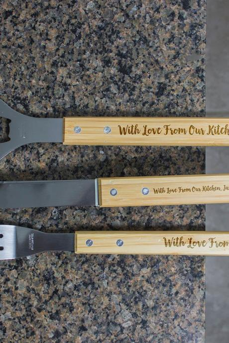 Personalized BBQ Set, Personalized BBQ tool set, With Love Engraved Barbecue Set, Unique BBQ Grill Set, personalized grill set For Home