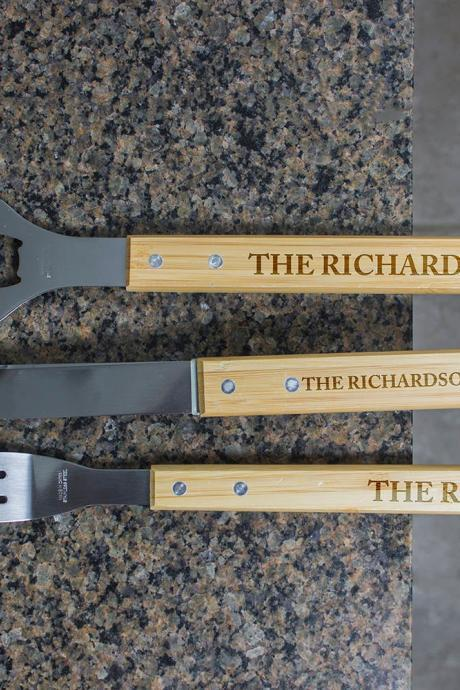 Personalized BBQ Set, Personalized BBQ tool set, Customize Engraved Barbecue Set, Unique BBQ Grill Set, personalized grill set For Home