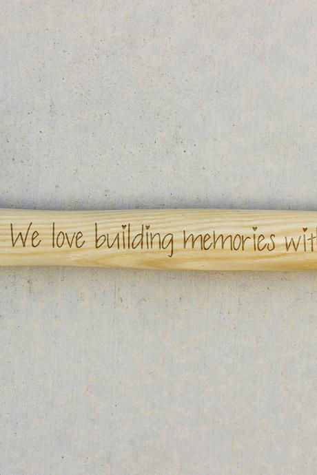 Personalized Hammer, Fathers day gift, hammer, Custom hammer, We Love Buillding Engraved hammer, Best Gift for him, Unique Custom gift