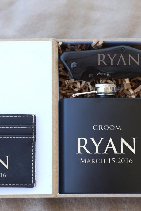 Customize Groomsman gift set,Groomsman gift set,Personalize Groomsmen Gift set,Engraved gift set,Groom's Crew gift set,Custom gift set