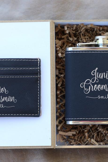 Junior Groomsmen gift set, Groomsman gift set,Personalize Groomsmen Gift set,Engraved gift set,Groom's Crew gift set, Custom Groom set