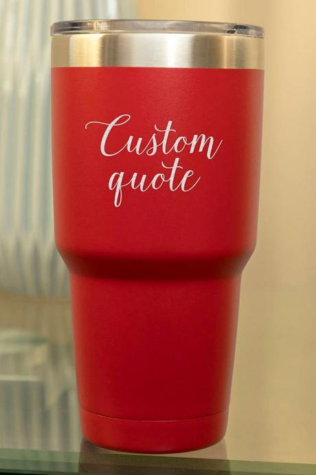 Custom name Tumbler-30oz Stainless Tumbler - Gift for him-customize tumbler- personalize tumbler-insulated tumbler cup-wedding favor-summer