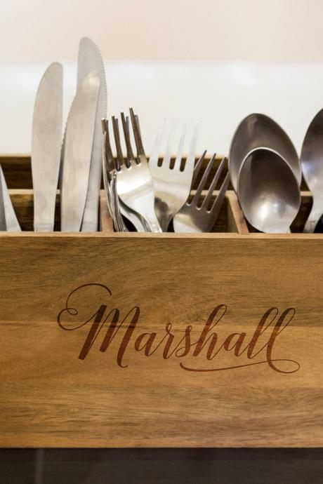 custom name Silverware Caddy, kitchen Utensil Holder,Personalize Kitchen Stuff, Picnic Caddy,kitchen tool holder, housewarming Gift, custom