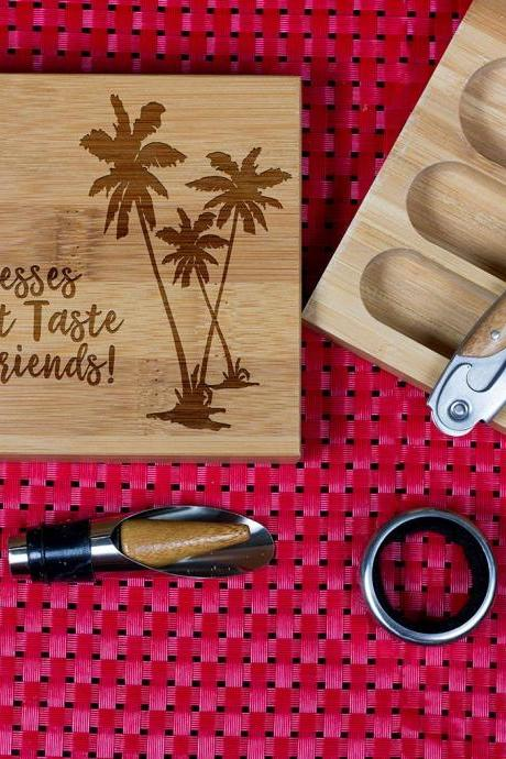 Engraved Wine opener set, Cork screw Set, Blesses, Wooden Engraved Wine Opener set, Party Favor, Christmas Gift