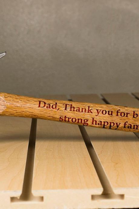 Personalized Hammer, Fathers day gift, hammer, Custom hammer, Dad, Thank You Engraved hammer, Best Gift for him, Unique Custom gift