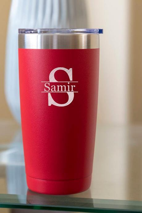 Custom name tumbler-20 oz Stainless Tumbler - Gift for him-customize tumbler- personalize tumbler-Wedding Tumber cup-wedding favor-summer