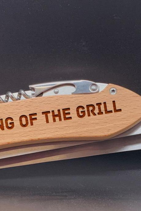 King of the grill BBQ Set, Personalized BBQ tool set, Gift for Grandpa, personalized grill set for Dad, Father's Day Gift, Gift for Dad