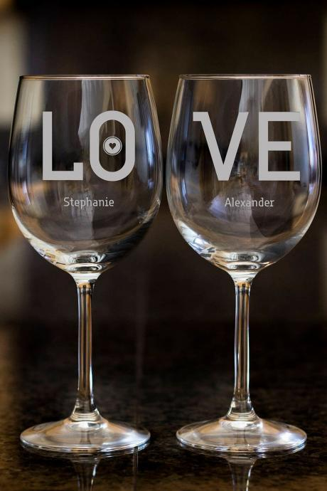 LOVE wine glasses,Personalize wine glasses,Engraved wine glasses, etched Wine glasses,wedding gift, Bachelor party, customized, customized