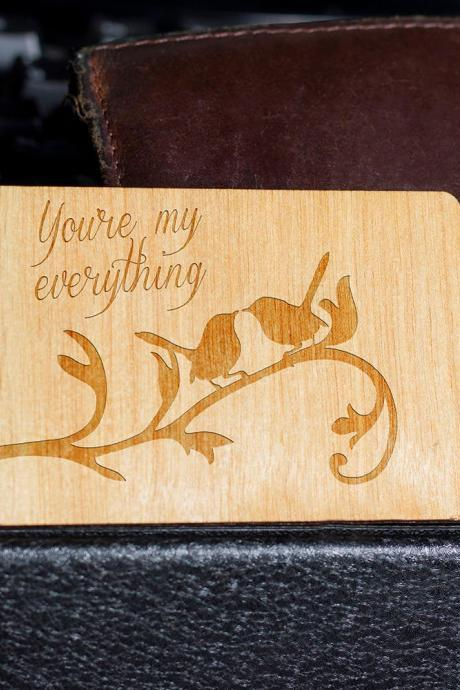 Wooden Wallet insert, Customized Wallet Insert, Wooden Wallet Insert Gift, Custom Engraved, Wooden Wallet Insert Card, Custom Engraved