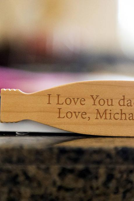I Love You Daddy bottle opener- custom corkscrew-Engraved wine bottle opener-wedding party gift-monogram bottle opener-personalize opener