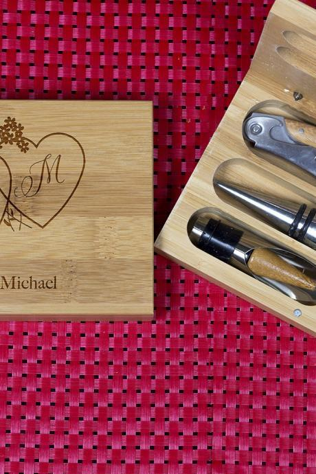 Engraved Wine opener set, Personalized Corkscrew Set, Custom Engraved Wine Opener set,Personalized Bottle Opener, Christmas Gift