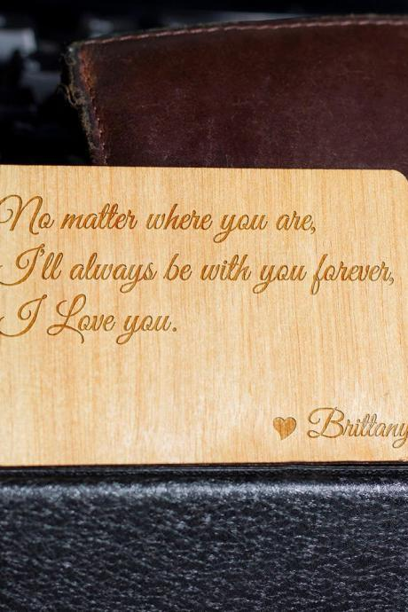 Wooden Wallet insert, Customized Wallet Insert, Custom Wallet Card, Wood Wallet, Wooden Wallet Insert Card, Eco Friendly