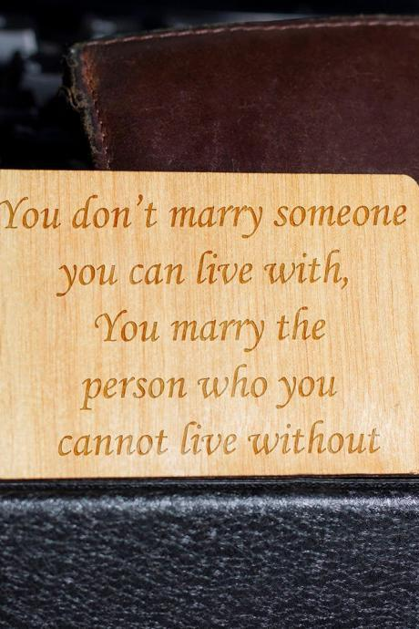 Wooden Wallet insert, Customized Wallet Insert, Real Wood Wallet Card, Custom Engraved, Wooden Wallet Insert Card, Custom Engraved
