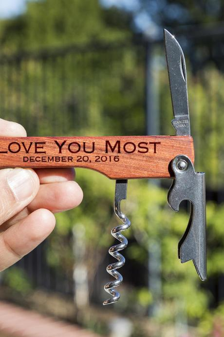 I Love You most bottle opener- custom corkscrew-Engraved wine bottle opener-wedding party gift-monogram bottle opener-personalize opener