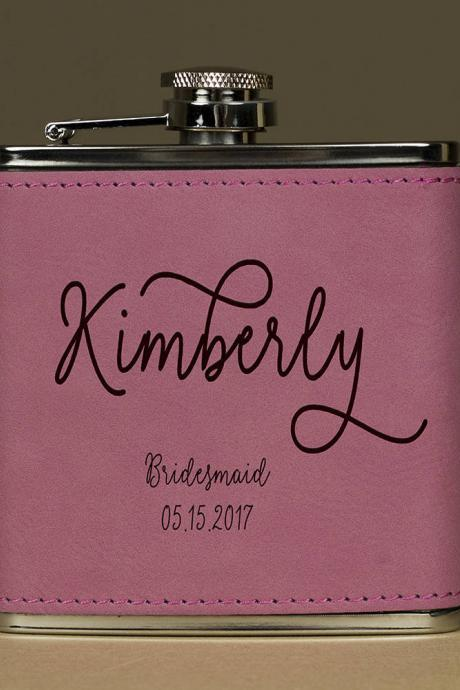 Personalized Flask, Flask For Bridesmaid, Maid of Honor Flask, Gift for Bridesmaid, Gifts for Her, Birthday Gift,Bridesmaid Flask,Hip Flask