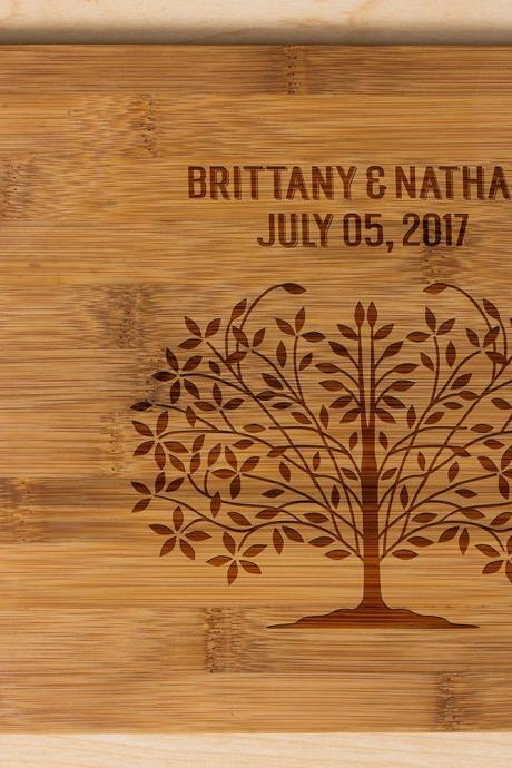 Personalized cutting board, Wedding Gift, Kitchen Decor, Housewarming Gift, His & her Name Engraved Cutting Board, Chopping board