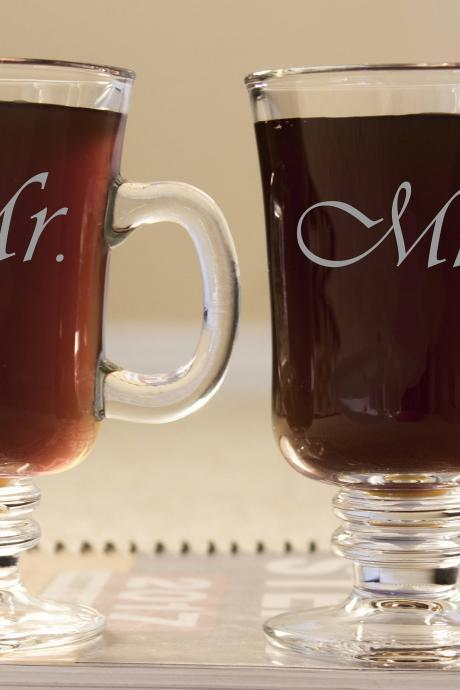 Mr & Mrs mug, Personalize coffee mug,custom Tea mug,Etched coffee mug, beautiful gift for her, custom quote,Engraved tea cup