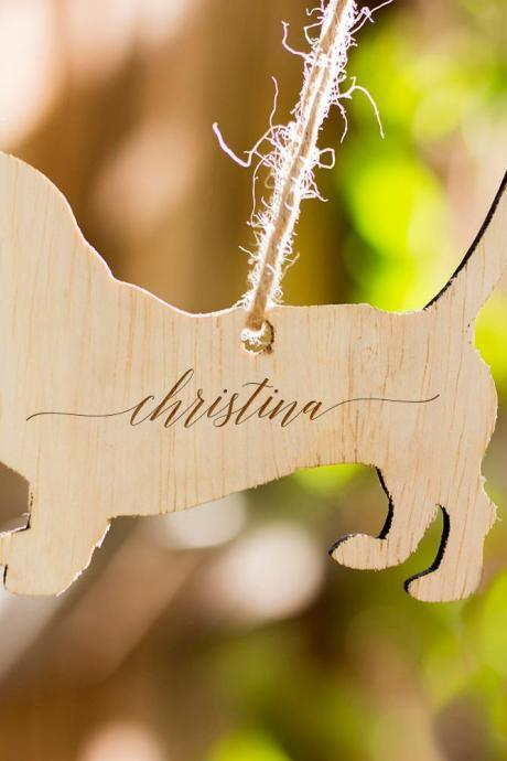 Personalized Christmas Ornament, Engraved Wooden Gift Tag, Wooden Christmas Ornament Gift, Engraved Wooden Christmas Ornament