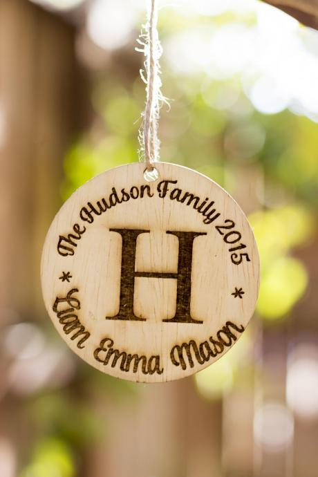 Personalized Christmas Ornament, Wooden Christmas Ornament Gift, Engraved Wooden Gift Tag, Wood Ornament, Personalized Ornament