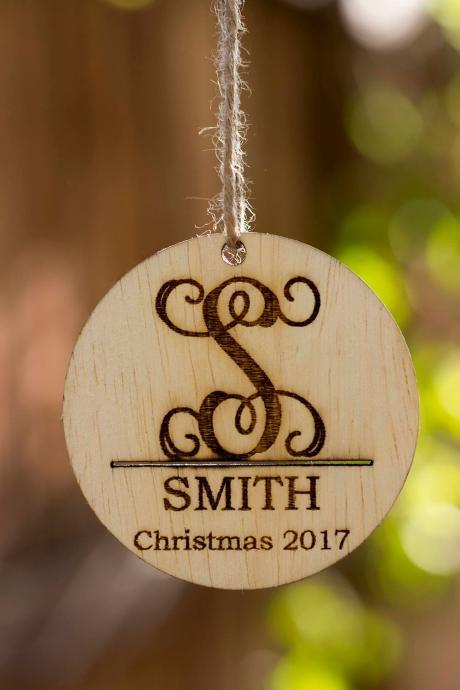Personalized Christmas Ornament, Wooden Christmas Ornament Gift, Family Personalized Ornament Gift Tag, Wood Ornament, Personalized Ornament