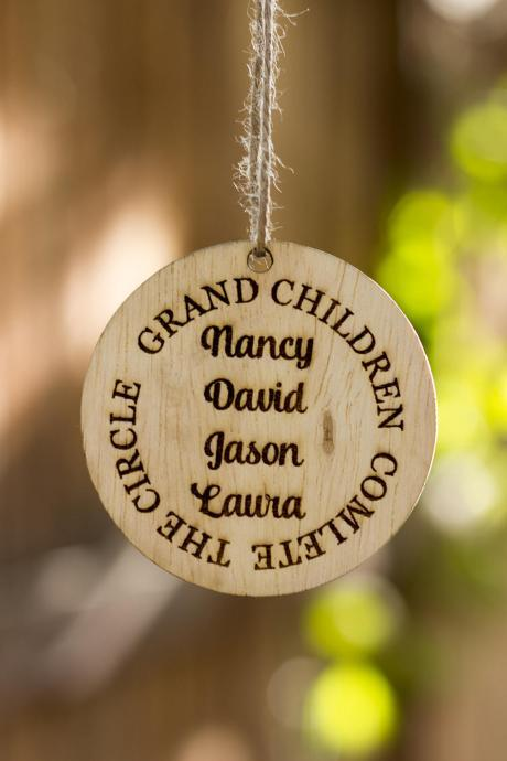 Personalized Christmas Ornament, Wooden Christmas Ornament Gift, Family Personalized Ornament Gift Tag, Wooden Christmas Ornament