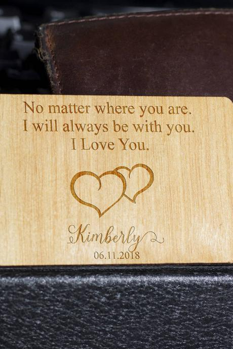 Wooden Wallet insert, Customized Wallet Insert, Custom Wallet Card, Wood Wallet, Wooden Wallet Insert Card, Wooden Wallet Insert Gift