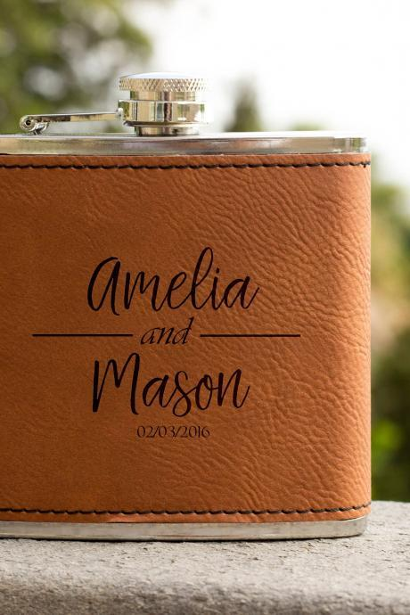 Personalized Flask, Gift For Couple, Wedding Flask,Gift for wedding, Gifts for him, birthday gift, best man gift, Hip Flask